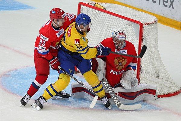 Швеция – Россия (23.04.2016) Еврохоккейтур. Прямая трансляция.