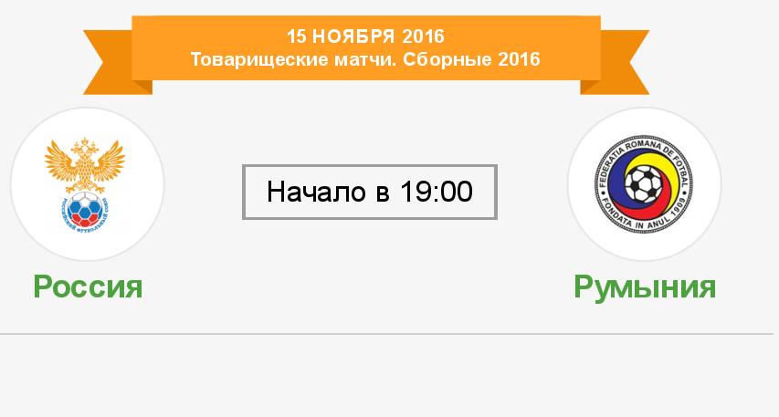 Россия - Румыния смотреть онлайн (15.11.2016)